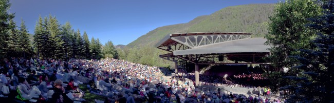 The breathtaking outdoor Gerald R. Ford Amphitheater is home to both Bravo! Vail and Vail International Dance Festival events.