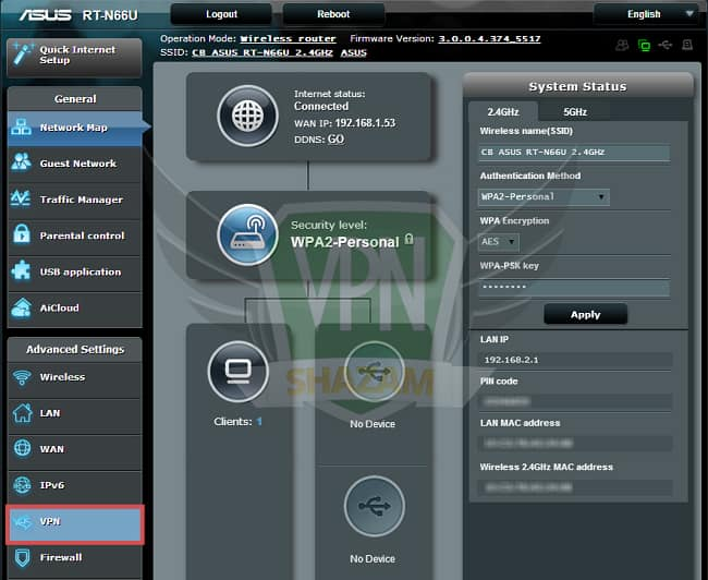 Asus Setup VPN step3