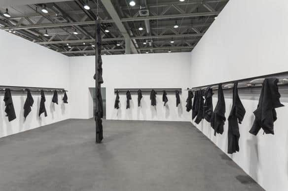 Jannis Kounellis, Untitled, 2014, installation at Art Basel, 2016