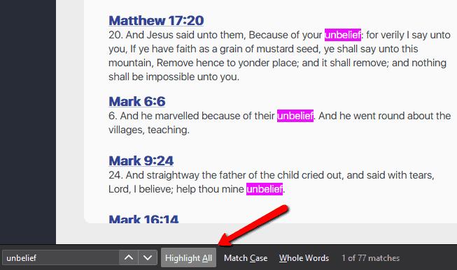 unbelief in the scriptures