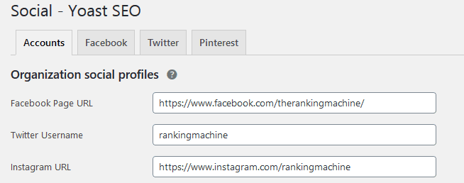 Adding Social Media Profiles to Website