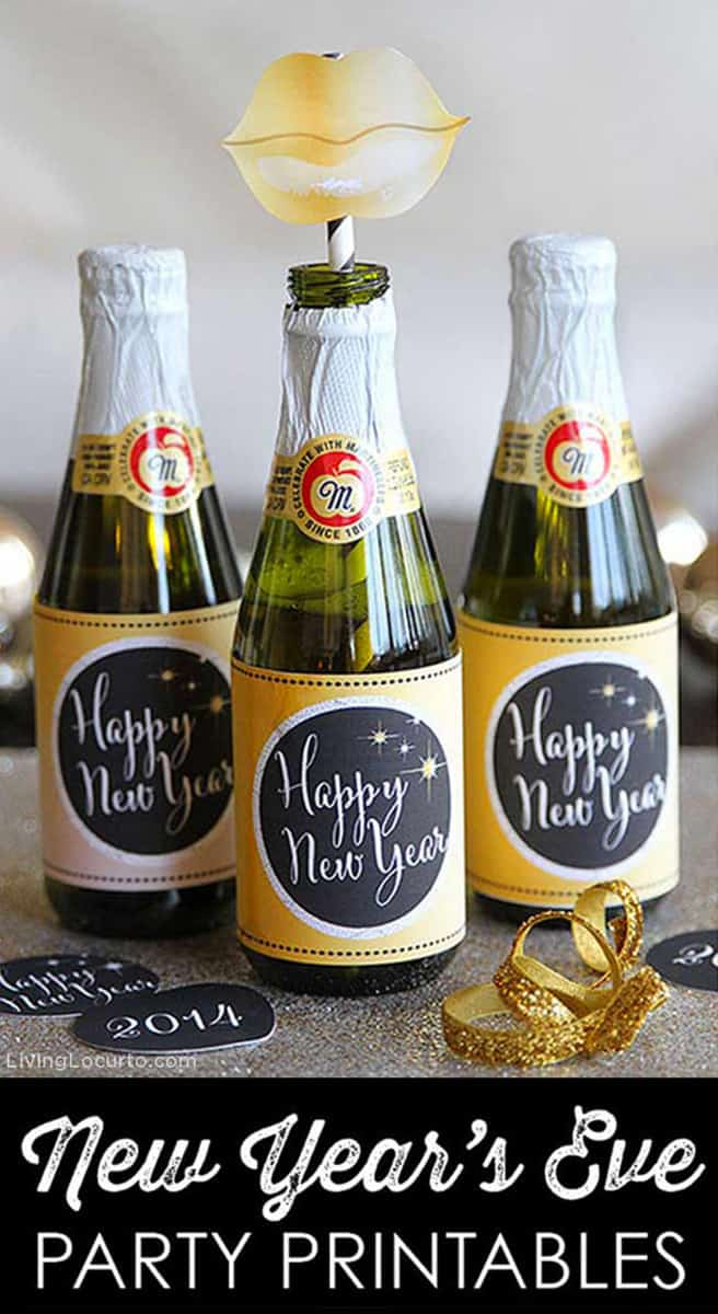 New Years Eve Party Ideas and Photo Prop Printables