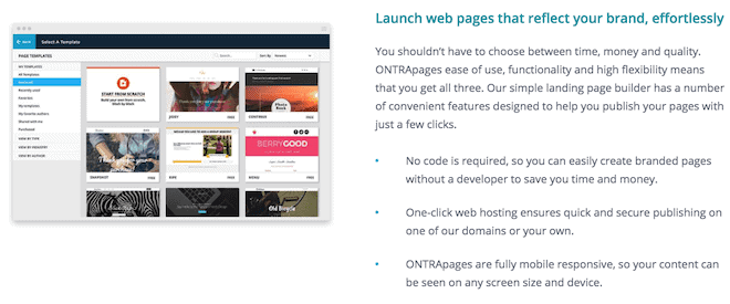 ontraport landing pages