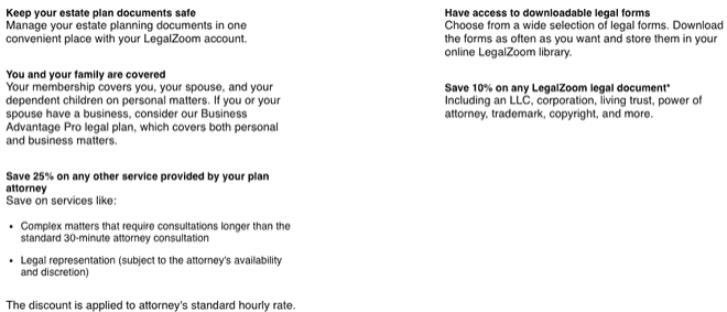 legalzoom will cost