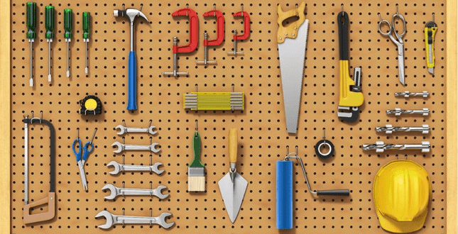 Four Steps to Effective Organization with Pegboard Systems