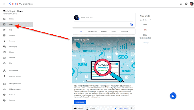 claim my business on google
