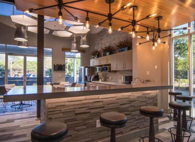Tampa Corporate Break Room Concrete Countertops