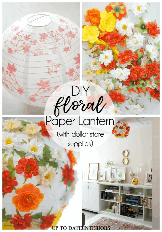 Floral Paper Lantern Dollar Store Pinterest