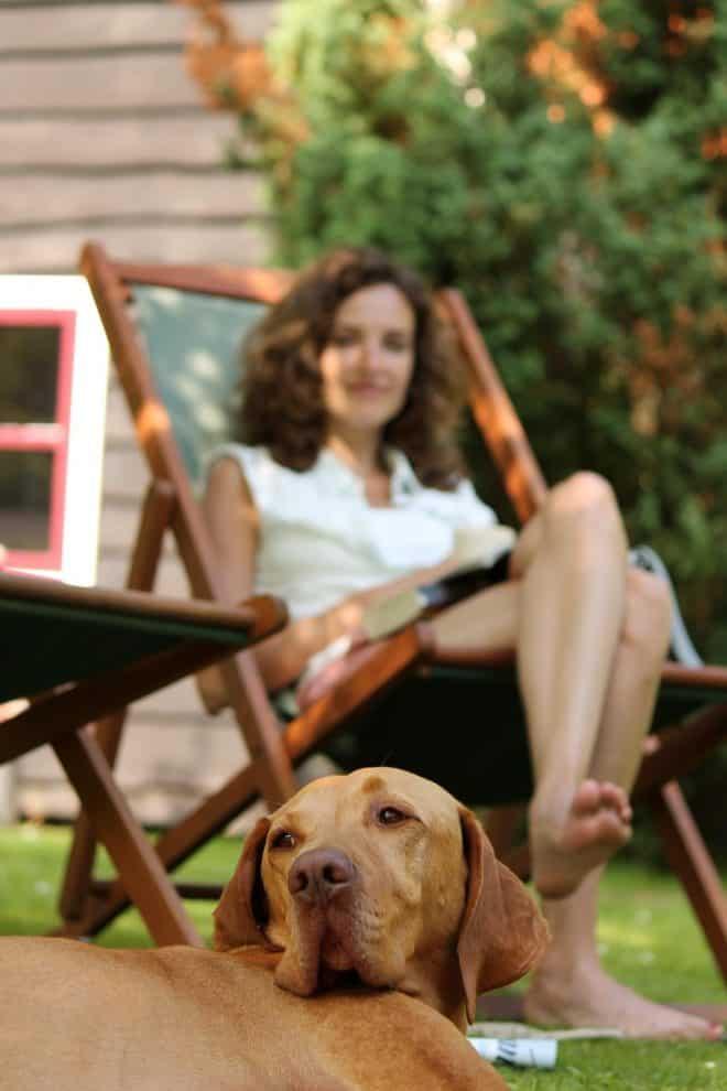 Uitrusten met hond op Te Hooi en Te Gras in Boijl