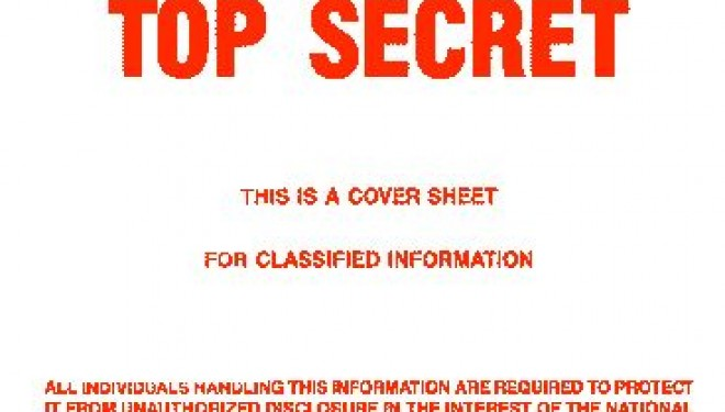 Image of text: Top Secret - Classified Information