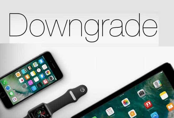 eseguire il downgrade di iOS