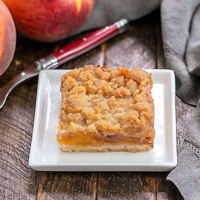 Fresh Peach Bars featured image