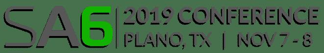 SA6 2019 conference logo