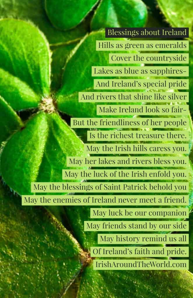An Irish blessing about Ireland