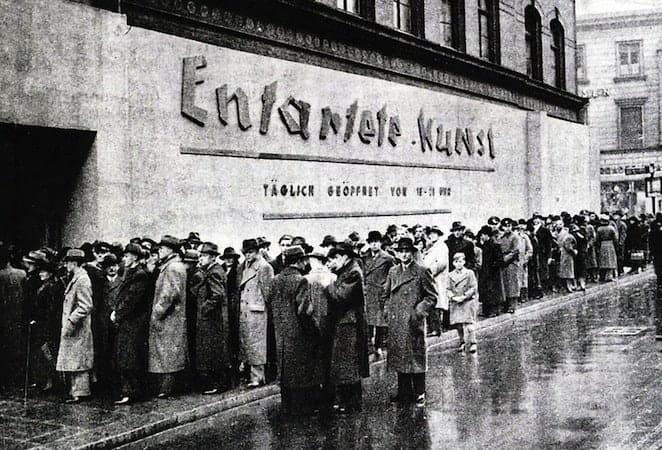 Opening of the Entartete Kunst exhibition in Hamburg, 1938