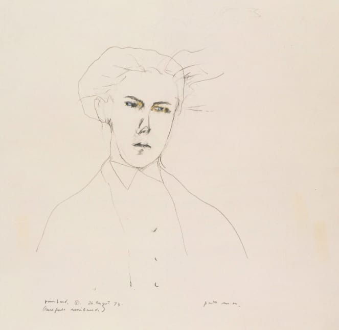 Patti Smith, Portrait of Rimbaud, 1973