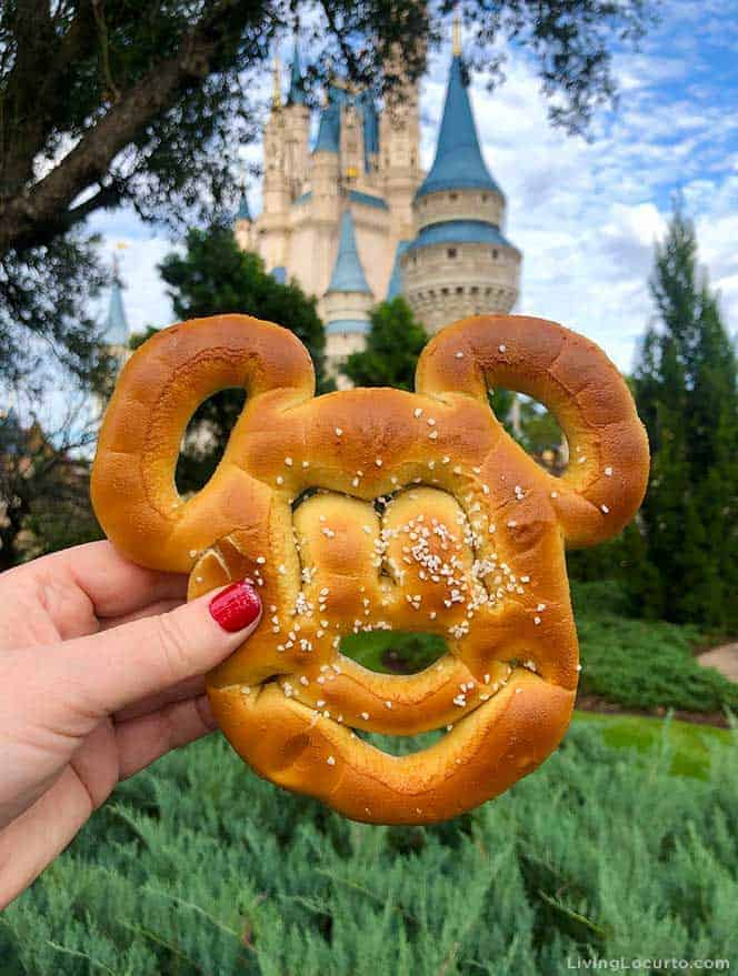 Tips for Disney World's Magic Kingdom on New Year's Eve - Mickey Pretzel