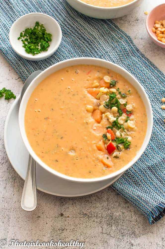 Close up of the soup