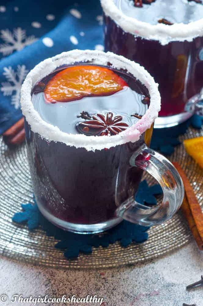 Single mug of mulled wine