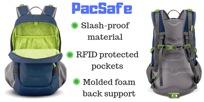 pacsafe slashproof backpack