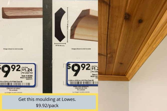 low profile crown moulding for laundry room makeover 2