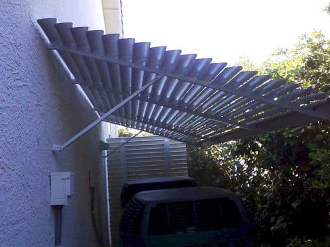 louvered-awning for AC units