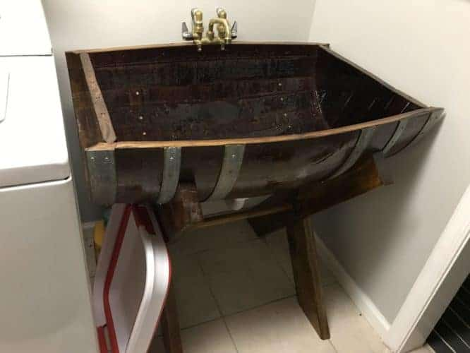 custom made laundry room sink for laundry room makeover