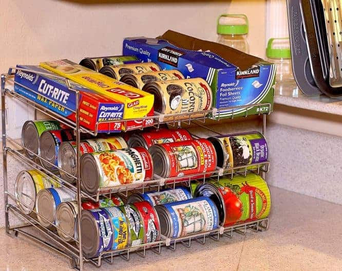 using can organizers to organize your kitchen