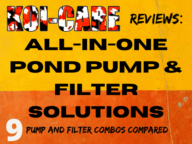 All in one pond pump and filter solutions