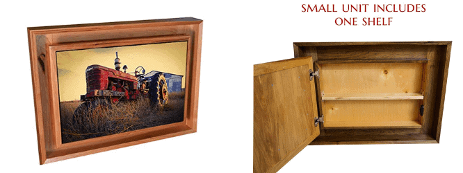 hidden picture frame storage