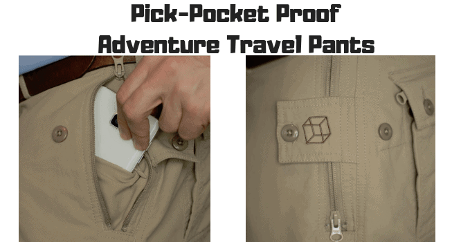 Pick-Pocket Proof Adventure Travel Pants