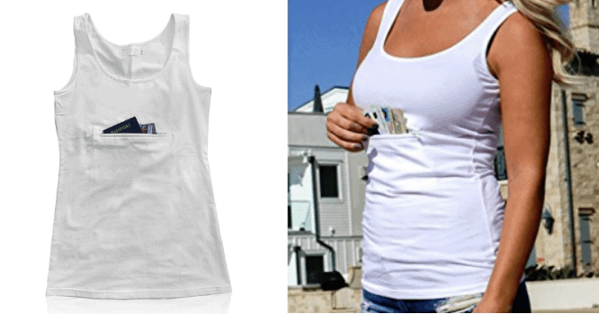 tank top with hidden storage