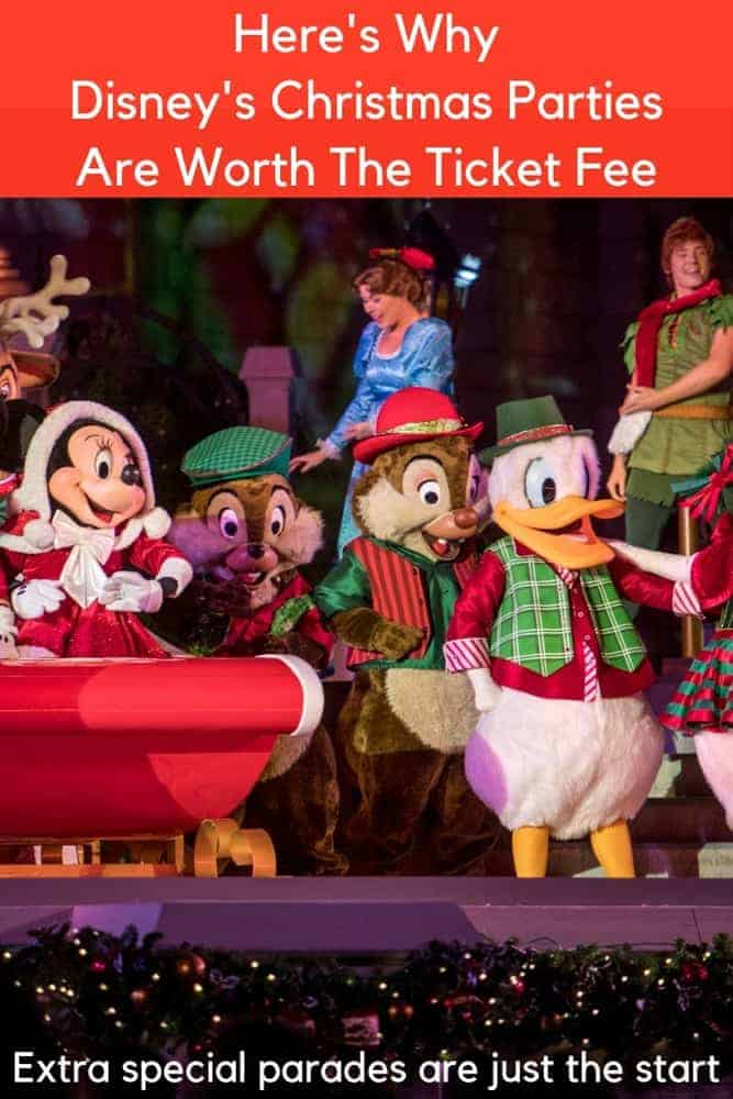 Mickey's very merry christmas party is worth the extra ticket fee families pay to get in. Here's why it's a good value and tips for making the most of these special evenings at disneyland and disney world. #mickeysverymerrychristmasparty #disneyworld #disneyland #holidays #christmas #decorations #tips