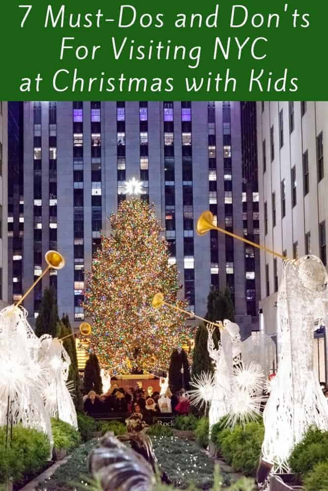 Here are 7 things you must do and see if you visit nyc with kids for christmas. We also tell you 7 things not worth your time. #nyc #christmas #vacation #thingstodo #kids #tips