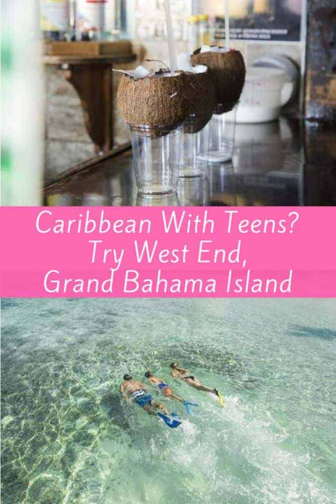 For a low-key caribbean vacation with tweens or teens, head to grand bahama island, and go beyond freeport to the west end, which offers vacation homes, colorful old bay resort, and sport fishing and eco tours among the things to do. #bahamas #teens #tweens #vacation #grandbahama #winterbreak #springbreak #beach