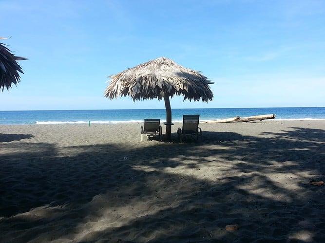 be on the beach