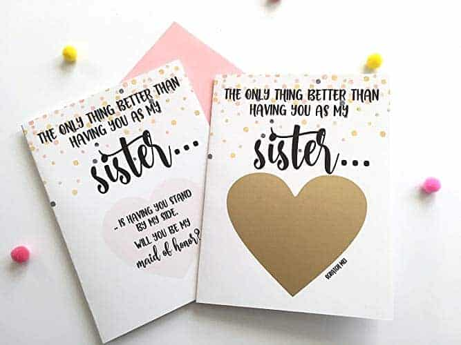 Will you be my maid of honor card for sister maid of honor gift
