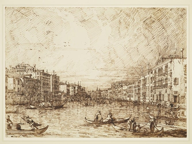 Canaletto, The Central Stretch of the Grand Canal, c. 1734.
