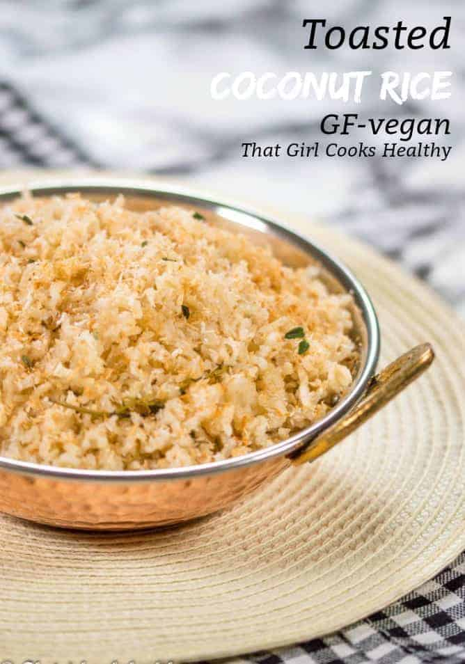 Learn how to make this simple and delicious toasted coconut Caribbean rice