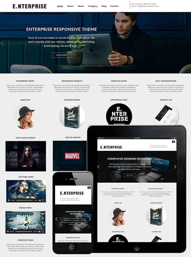 enterprise wordpress theme