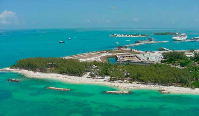 Fort Zachary Taylor in Key West: a Civil War-era fort and a great beach, all for $6 per car admission. (Photo courtesy Florida State Parks)