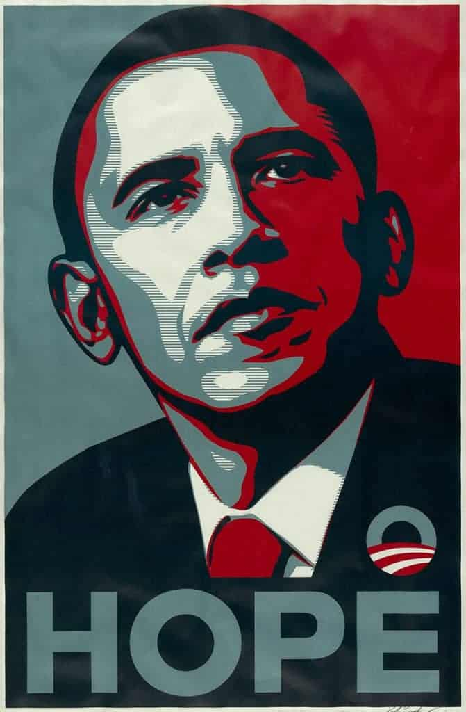 "Shepard Fairey, Barack Obama ""Hope"" Poster, 2008."
