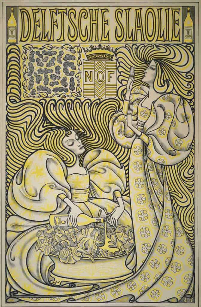 Jan Toorop, Delftsche Slaolie, 1893.
