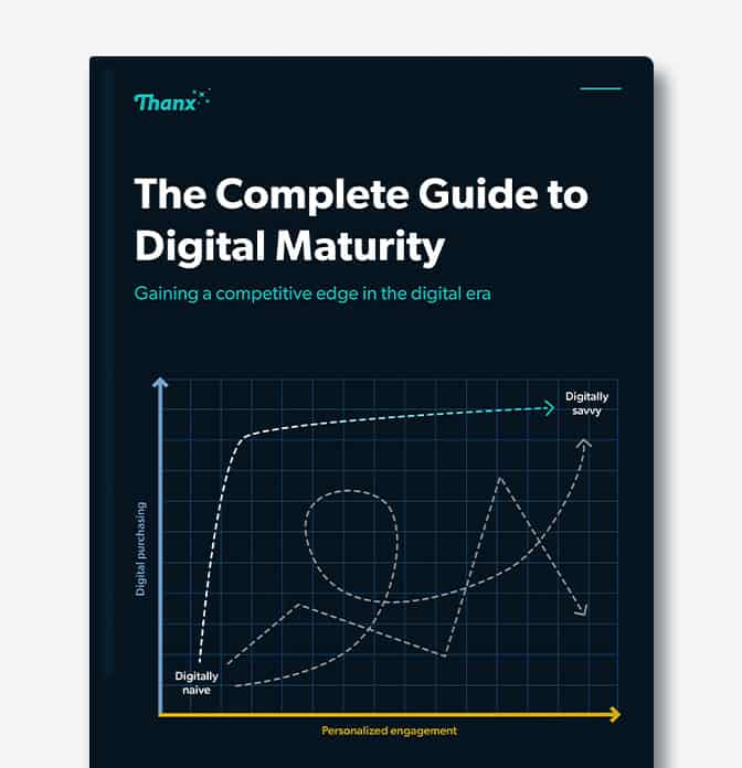 Mockup of Digital Maturity Guide on grey background