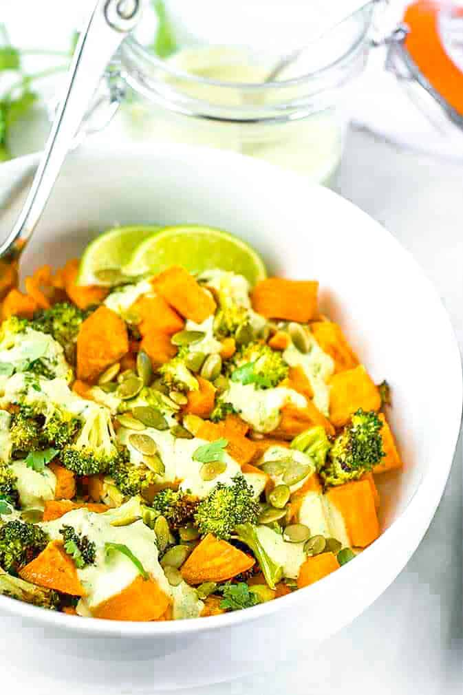 Sweet Potato And Broccoli Salad Bowl