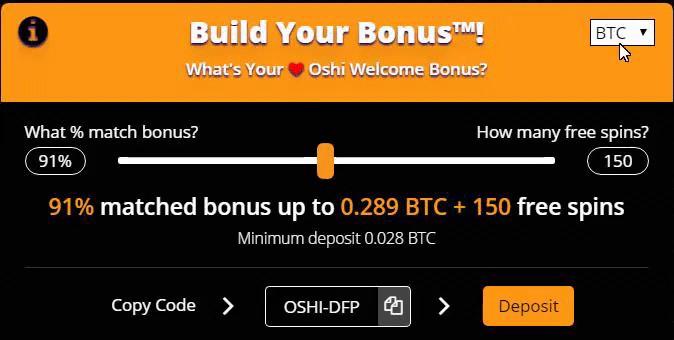 Oshi.io free spins