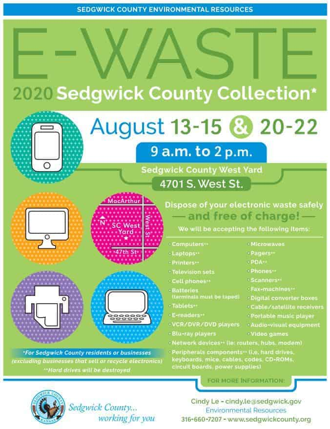 Flyer for the 2020 E-Waste Collection Event (free)