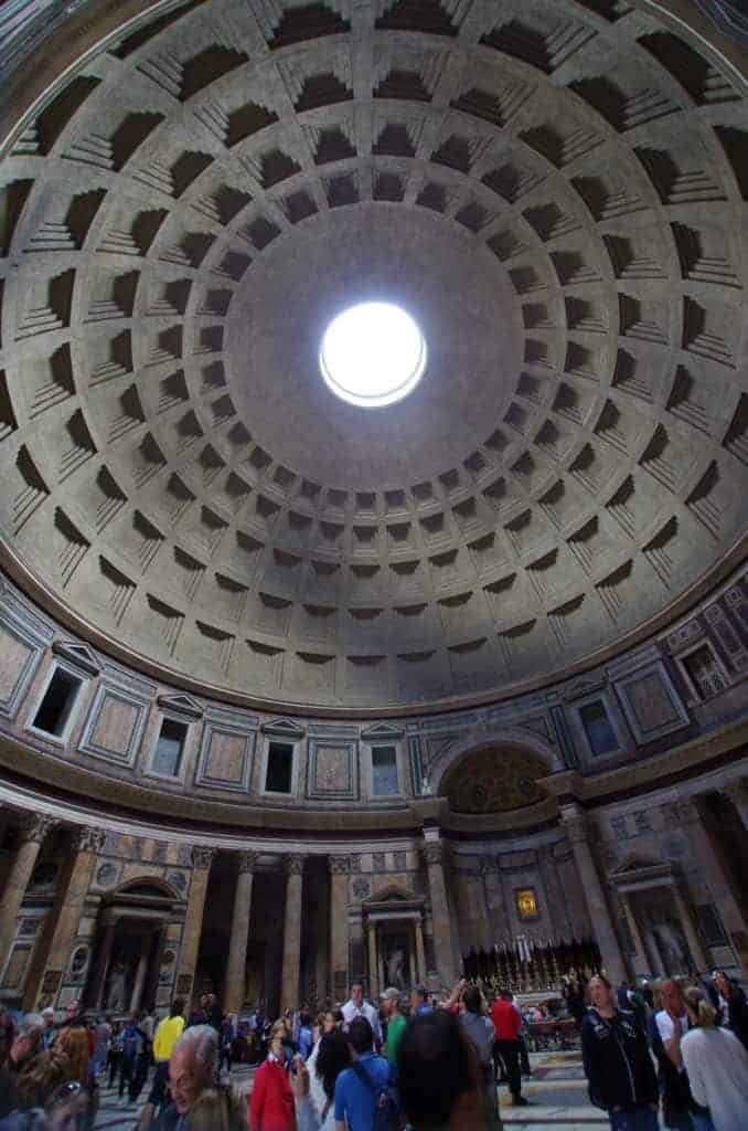 Concrete as featured in the dome of the Pantheon