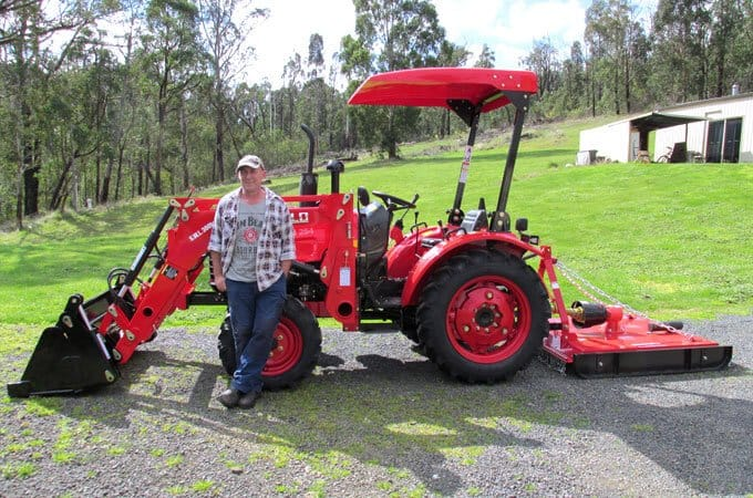 Paired with an AGMAX slasher, the APOLLO 254 is a very useful small farm mower.