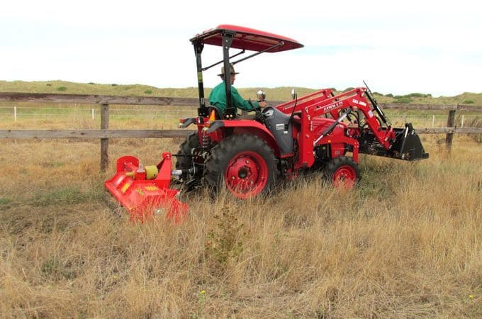 APOLLO 454 45hp with Del Morino flail mower FP158.